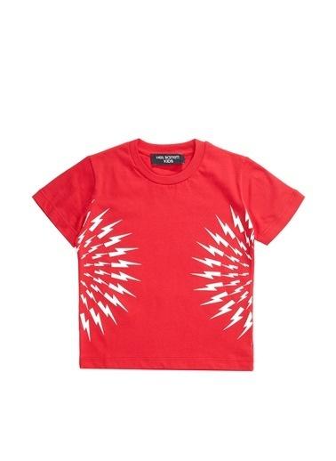 Neil Barrett Neil Barrett  Baskılı Erkek Çocuk T-shirt 101633107 Kırmızı